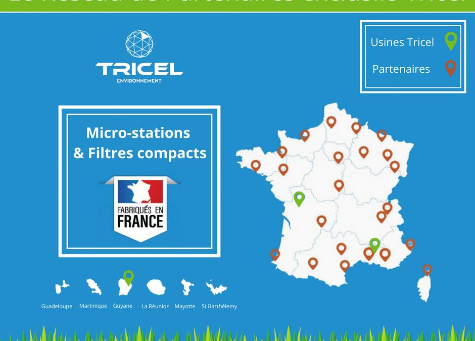Notre réseau de partenaires exclusifs Tricel partout en France